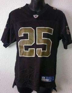 REEBOK REGGIE BUSH NEW ORLEANS SAINTS NFL Jersey Youth Size L (14-16)  NFL22