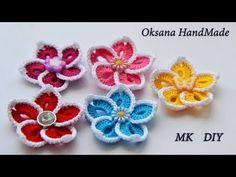 Простые цветы крючком. Мастер класс. Simple crochet flowers - YouTube