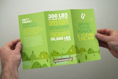 """Growenergy brochure. The color scheme tells you that it's about being """"green"""" and it gives it a tone of optimism. Nice layout."""