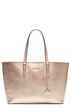 MICHAEL Michael Kors 'Medium Jet Set' Saffiano Leather