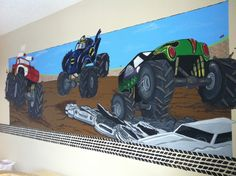 Wonderful Monster Truck Wall Mural In My Sonu0027s Room