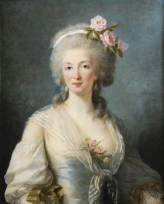 "Presumed to be Jeanne de Valois-Saint-Remy, ""comtesse de La Motte"", the instigator in The Affair of the Necklace, circa 1780 by Elisabeth-Louise Vigee Le Brun (1755-1842)"
