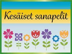 Mikä kukka on ravesarenpi? Entä kuktinkamussor? Entä mitä hauskaa kesällä tapahtuu? Sen voi ennustaa vaikka Suvisen sanajahdin avulla. #kesä #peli #visa #sanapeli #tavut #sanat #ennustus #ryhmätoiminta #kukat