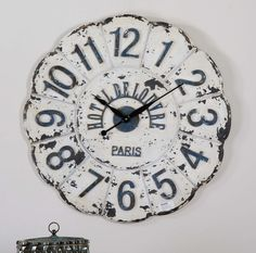 De Louvre White Wall Clock