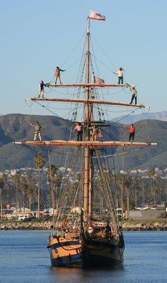 Hawaiian Chieftain in Ventura Harbor January 13, 2015. #http://historicalseaport.org/ #travel #sailing #california