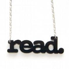 read. necklace
