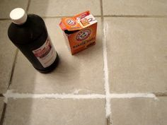 Clean grout on tile floors.  Def be trying this.