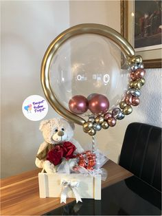 Baby Balloon, Bubble Balloons, Balloon Gift, Baby Shower Balloons, Birthday Party Decorations For Adults, Birthday Balloon Decorations, Balloon Arrangements, Balloon Centerpieces, Balloon Flowers