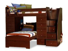 Berg Sierra Twin Space Saver L-Shaped Bunk Bed with Stairs and Storage (Twin over Twin) & Reviews | Wayfair