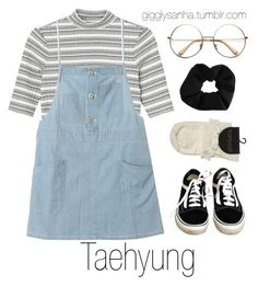 """Zoo // Taehyung"" by suga-infires ❤ liked on Polyvore featuring Monki, Vans and Topshop"