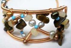 Bead Soup Cuff Bracelet  wireworking