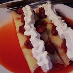 Fruit & Whipped Cream Crepes