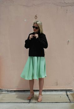MINT UMBRELLA SKIRT via tsouknida. Click on the image to see more!