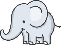 baby elephant / cartoon vector art illustration
