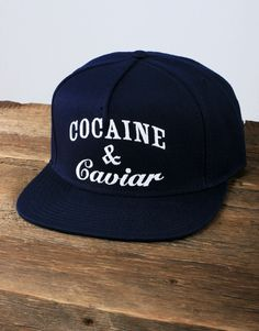 ed172471734 Crooks and Castles Cocaine and Caviar Snapback - Navy Blue Crooks And  Castles