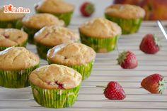 Muffin pesche e fragole