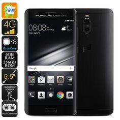 Preorder Huawei Mate 9 Porsche Smartphone - Android 7.0, Octa-Core CPU, 6GB RAM, 20MP Dual-Camera, 2560x1440p, Dual-IMEI, 4G - Huawei Mate 9 Porsche Smartphone features a stunning design inspired by Porsche. A powerful Octa-Core CPU and 6GB RAM make this a powerful Android phone.