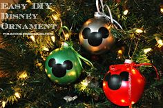Easy DIY Disney Ornaments | from willcookforsmiles... | #ornament #christmas