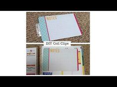 DIY Coil Clips for Erin Condren Life Planner - YouTube