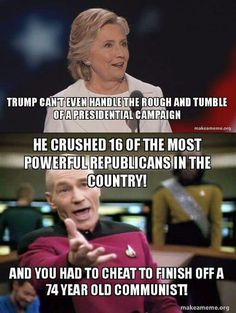 Killary is the most ignorant candidate ever, but intelligent compared to her voters!