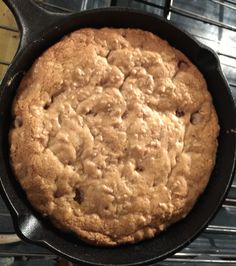 Cast Iron Pan Cookie - perfect easy and fresh hot dessert during a snow storm!!