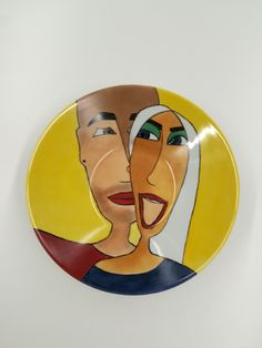 porcelain painting, handmade, 30cm