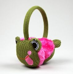 Frog Earmuffs yeah I go cry now