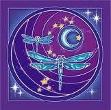 Moon, stars,  Dragonfly. This could combine all my symbols in a tattoo