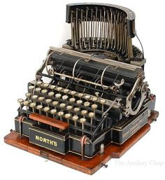 North's Typewriter, ca.1892.  Made in London.