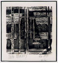Livio Abramo, xilogravura, 1951 / Catálogo das Artes
