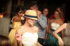 Great hat on the bride!