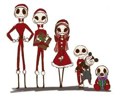 Little sandy clauses by DarkmatterNova on DeviantArt Sally Nightmare Before Christmas, The Night Before Christmas, Tim Burton Kunst, Tim Burton Art, Jack Disney, Sally Skellington, Tim Burton Characters, Jack The Pumpkin King, Arte Fashion