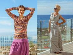 Wasserfallkragen - Shirts und Kleid nähen - nähen für Anfänger, nähen le...