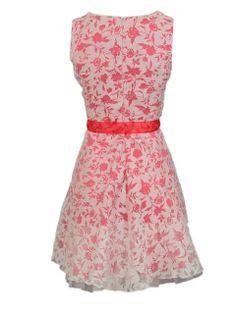 Jurk met bloemenprint - Korte jurken - BoBo Tremelo