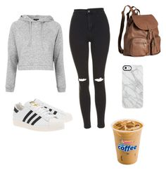 """Geen titel #3"" by iris-reitsma on Polyvore featuring mode, Topshop, adidas Originals, H&M en Uncommon"