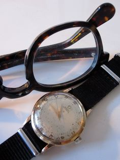 A vintage watch and Moscot Lemtosh specs…A perfect match…'9