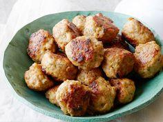 Zesty Chicken Meatballs recipe from Sunny Anderson via Food Network