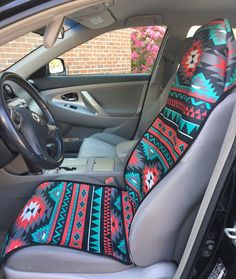 d8b6bf730e Aztec Car Seat Covers Slip On Universal Front Seat Covers Custom Tribal Seat  Protector Monogram Personalized