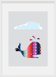 rock that horse — rainbow whale - Nautical Design, Little Fish, Poster Prints, Art Prints, Fish Art, Art Wall Kids, Illustrations Posters, Amazing Art, Home