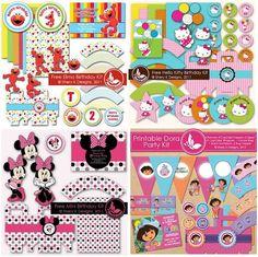 Ideas para tus Fiestas Infantiles: Kits imprimibles GRATIS de los Angry Birds y muchos más