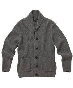 Mens Barbour Clifton Chunky Shawl Lambswool Cardigan | Barbour's Dedicated Online Shop for Barbour Clothing