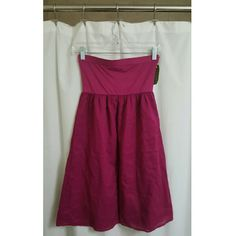 Velvet - Maroon Strapless Dress Maroon strapless dress. Top portion is stretchy and tight to secure around chest.  94% Cotton, 6% Lycra - Machine Wash cold on gentle, tumble dry on low. Runs on the smaller side of medium. Velvet Dresses Strapless