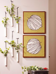 Leaf-Theme Dimensional Wall Art - love DIY artwork! More fall-inspired crafts: http://www.bhg.com/thanksgiving/crafts/cozy-fall-crafts/
