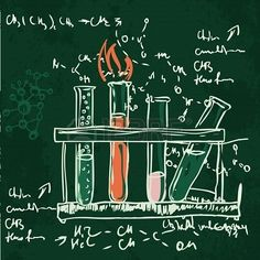 chemistry lab illustrations -Love these for my office!!!