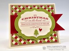 Heart of Christmas stamp set.  Designed by Mary Fish, Independent Stampin' Up! Demonstrator. Details, supply list and more card ideas on http://stampinpretty.com/2012/10/stampin-up-heart-of-christmas-card.html