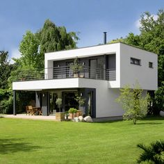 modern home design ideas 2018 Modern House Facades, Modern House Plans, Modern Architecture, Bungalow House Design, Modern House Design, Container House Design, Villa Design, Facade House, Building A House