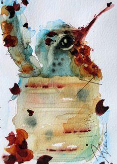 Nesting Hummingbird Watercolor Art Print by RedbirdCottageArt