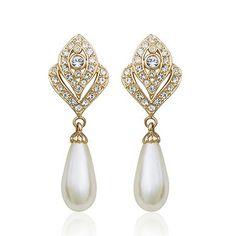 Elegant two tone drop earring - My wedding ideas