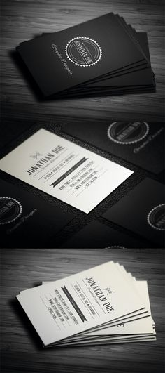 Retro Business cards. #business #card #design