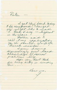 Janis Joplin autograph letter signed to her fiance Peter de Blanc in New York. Her career would launch only months after this letter, written in 1965 after she returned home to Port Arthur, Texas to get sober.